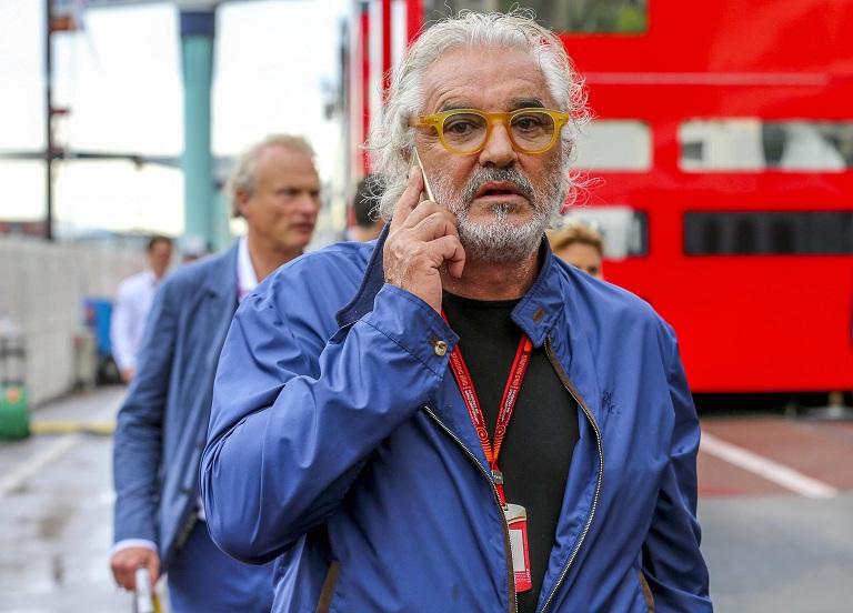 epa05336419 Italian businessman Flavio Briatore prior to the 2016 Formula One Grand Prix of Monaco at Monte Carlo circuit in Monaco, 29 May 2016.  EPA/SRDJAN SUKI